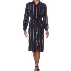 Polo Ralph Lauren Silk Striped Shirtdress  **Flaw